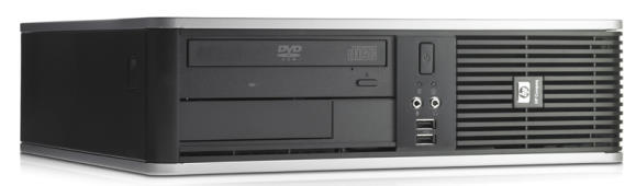 HP DC7800 SFF Core 2 Duo E6550 @ 2,33GHz 2GB 80GB DVD-ROM 8x USB