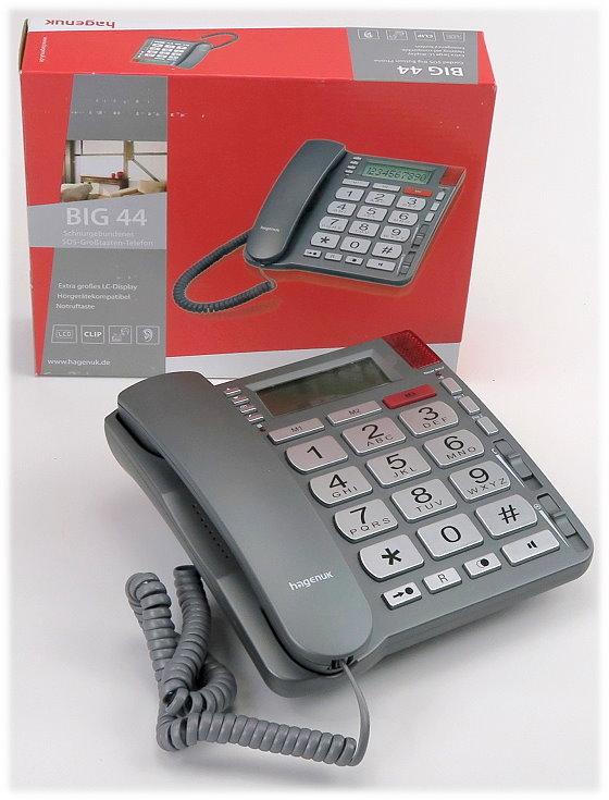 Hagenuk Big 44 SOS Großtasten Telefon analog NEU OVP Notruf Notfall Rufsignal Senioren