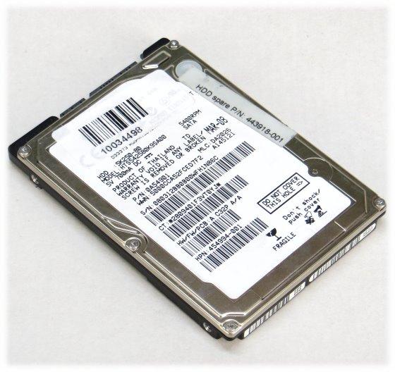 "2,5"" Hitachi HTS542580K9SA00 80GB SATA HDD Festplatte für Notebook"