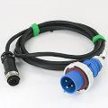 IBM Longwell EC J85836C Stromkabel IEC309 2P+E auf Burndy female 7pin 4m 39M5414