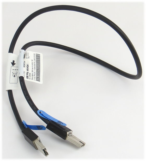 IBM mini SAS 4x AI Kabel SFF-8088 auf SFF-8088 1m 44V4041
