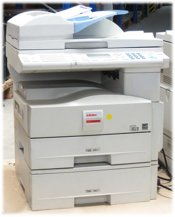 Infotec IS 2416FPS All-in-One FAX Kopierer ADF Laserdrucker 2.PF vergilbt