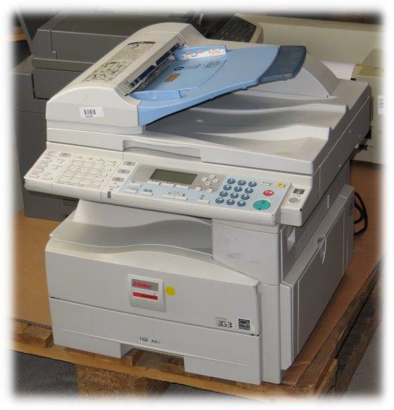 Infotec IS 2416FPS All-in-One FAX Kopierer ADF Laserdrucker vergilbt