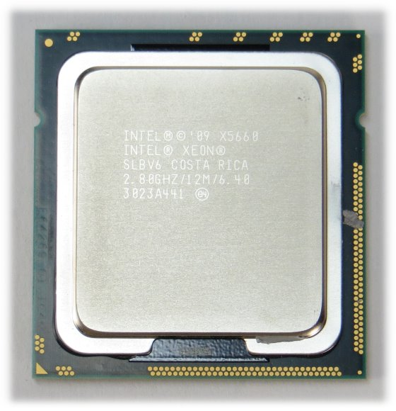 Intel Xeon Hexa / Six Core X5660 @ 2,8GHz SLBV6 Sockel FCLGA1366