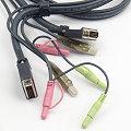 Kabel DVI-D Dual Link + USB + Audio 1,5 m für KVM Switch