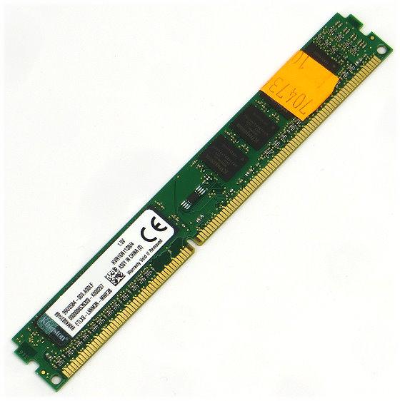 Kingston 4GB PC3-12800U DDR3 1600MHz DIMM 240pin unbuffered KVR16N11S8/4 low Profile