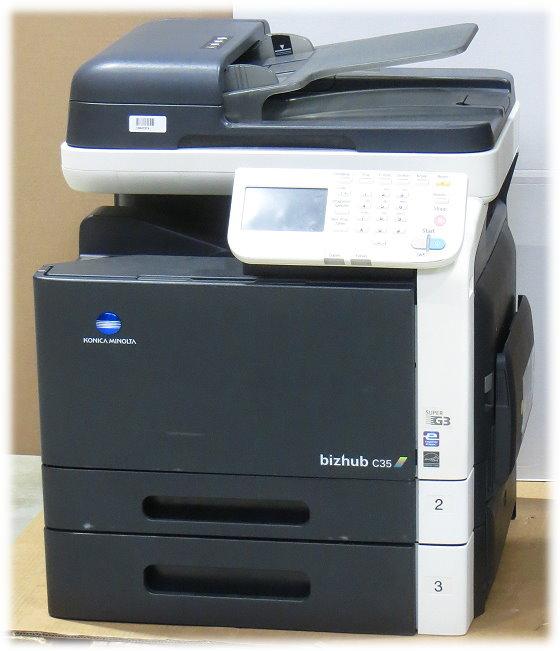 Konica Minolta bizhub C35 MFP FAX Kopierer Scanner Farblaserdrucker defekt an Bastler