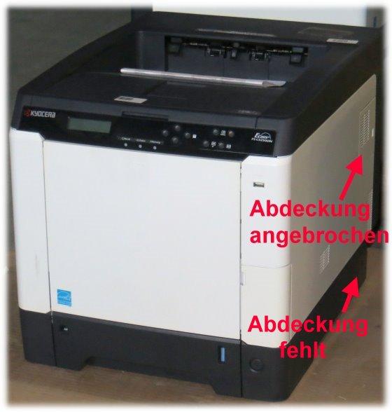 Kyocera FS-C5250DN 26 ppm 256MB Duplex LAN Farblaserdrucker 28.050 Seiten B- Ware