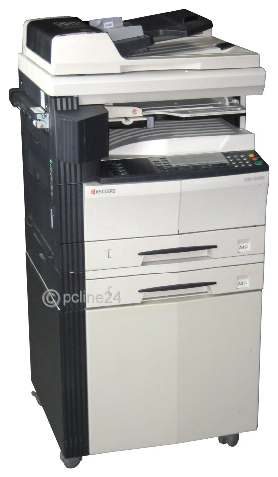 kyocera km 2050 din a3 kopierer mit adf laserdrucker b. Black Bedroom Furniture Sets. Home Design Ideas