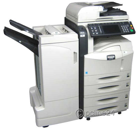 kyocera km 4050 din a3 fax kopierer scanner drucker adf duplex finisher seiten all in. Black Bedroom Furniture Sets. Home Design Ideas