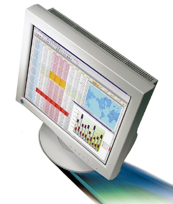 """18"""" LCD TFT EIZO FlexScan L680 USB-Hub 2x VGA vergilbt"""