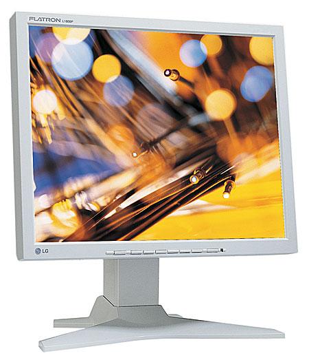 """18"""" LG FLATRON L1800P Pivot DVI VGA 2x USB"""