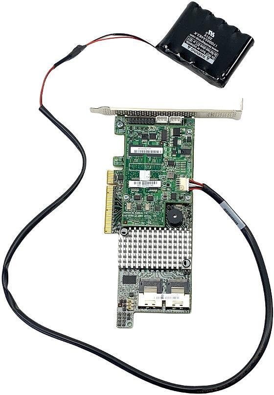 LSI SAS 9266-8i PCIe x8 RAID Controller 2x SFF-8087 1GB Flash Backed Cache