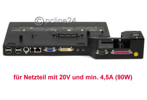 Lenovo Mini Dock 2504 für T60 T61 T500 T400 W500 R500 R400 Dockingstation