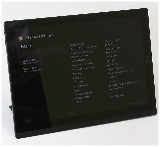 "Lenovo ThinkPad X1 Core m7-6Y75 @ 1,2GHz 8GB 12"" IPS Tablet ohne SSD/HDD/Netzteil"