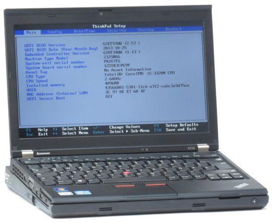 Lenovo ThinkPad X230 Core i5 3210M @ 2,5GHz 4GB 500GB Webcam + Ultrabase/DVDRW