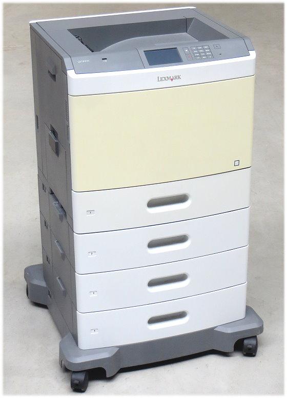 Lexmark C792dte Duplex LAN 246.870 Seiten Farblaserdrucker mit 4 Papier-Schubladen leicht vergilbt