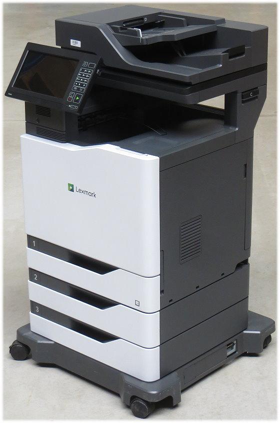 Lexmark CX825dte MFP FAX Kopierer Scanner Farblaserdrucker 56.830 Seiten Airprint