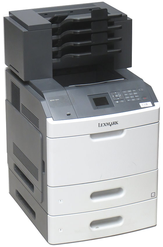 Lexmark MS810dn 52 ppm 512MB Duplex LAN Laserdrucker 160.400 Seiten Mailbox mit 4 Ablagen