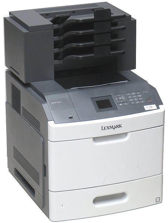 Lexmark MS810dn 52 ppm 512MB Duplex LAN Laserdrucker 106.000 Seiten Mailbox mit 4 Ablagen