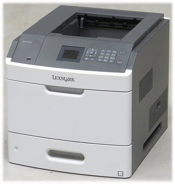 Lexmark MS810dn 52 ppm 512MB Duplex LAN Laserdrucker B-Ware Toner leer
