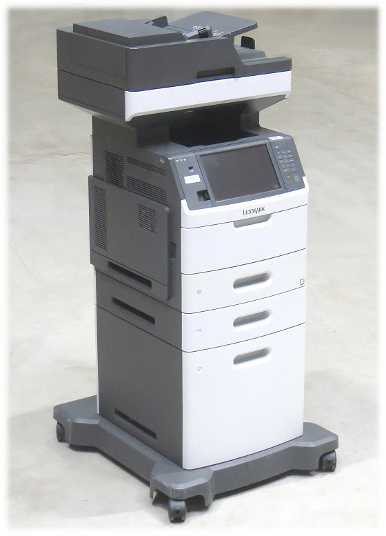 Lexmark MX711de FAX Kopierer Scanner Laserdrucker All-in-One Duplex Unterschrank