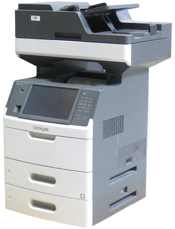 Lexmark MX711dte FAX Kopierer Scanner Laserdrucker ADF Duplex