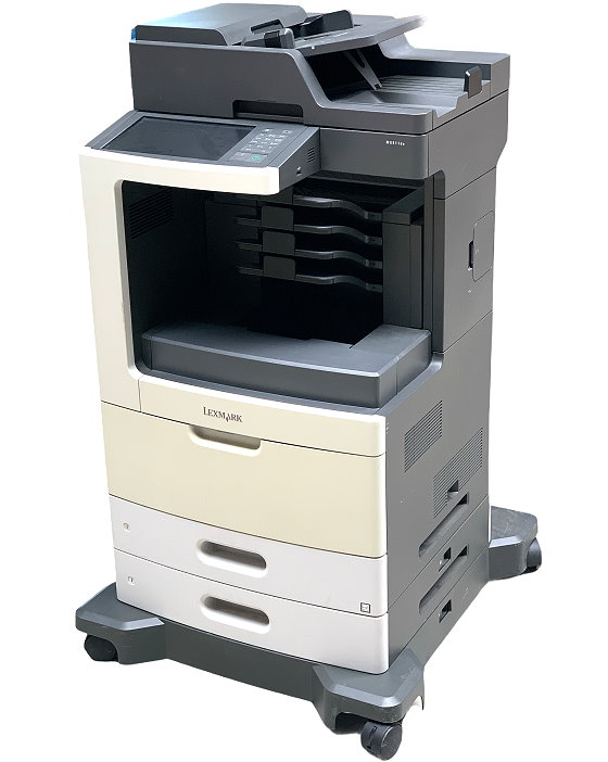 Lexmark MX811de All-in-One FAX Kopierer Scanner Laserdrucker 211.250 Seiten B-Ware
