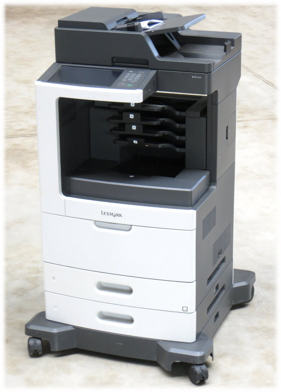 Lexmark MX812de All-in-One Multi-Funktions-Drucker mit Fax Kopierer Scanner 66 Seiten/Min.