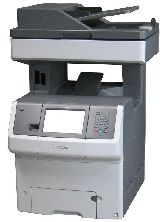 lexmark x738de all in one fax farb kopierer laserdrucker. Black Bedroom Furniture Sets. Home Design Ideas