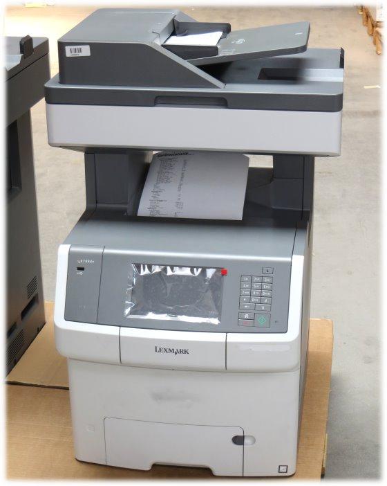 lexmark x746de all in one farblaserdrucker fax kopierer. Black Bedroom Furniture Sets. Home Design Ideas