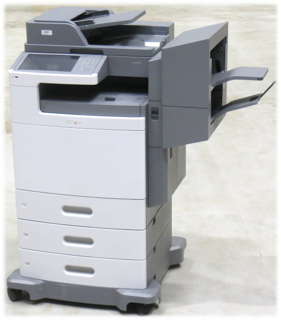 Lexmark X792de All-in-One FAX Kopierer Scanner Farblaserdrucker Finischer Hefter