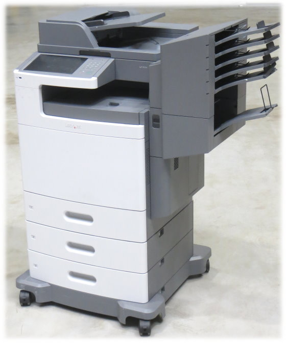 Lexmark X792de All-in-One FAX Kopierer Scanner Farblaserdrucker Sorter 176.920 Seiten