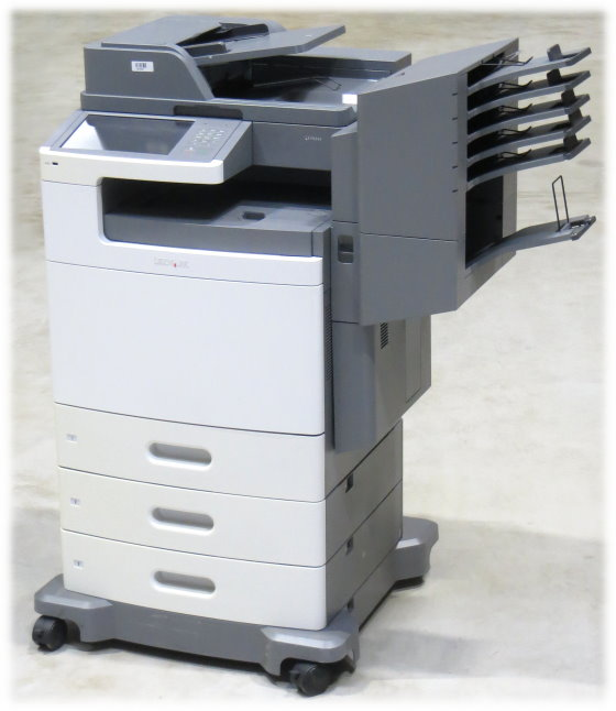 Lexmark X792de All-in-One FAX Kopierer Scanner Farblaserdrucker Sorter 390.150 Seiten