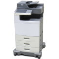 Lexmark X792de All-in-One FAX Kopierer Scanner Farblaserdrucker 73.350 Seiten B-Ware
