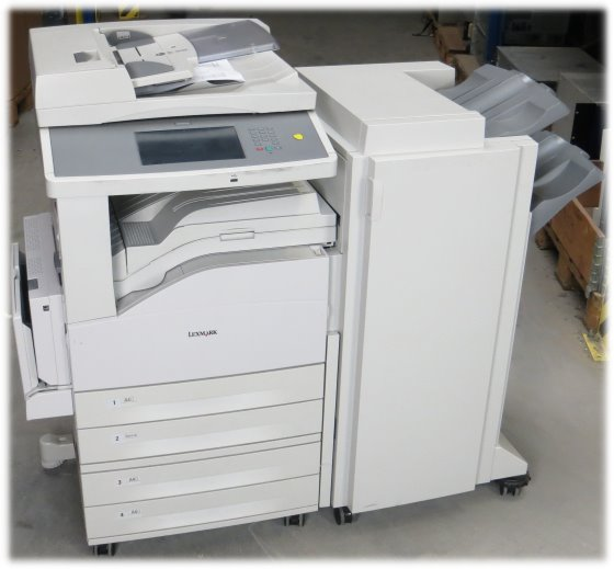 Lexmark X860de All-in-One DIN A3 FAX Kopierer Scanner Duplex ADF LAN