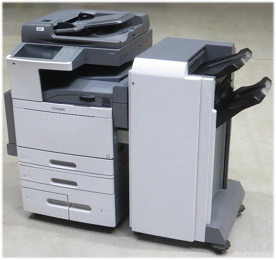 Lexmark X950de DIN A3 FAX Kopierer Scanner Farblaserdrucker mit Finischer PF 2000