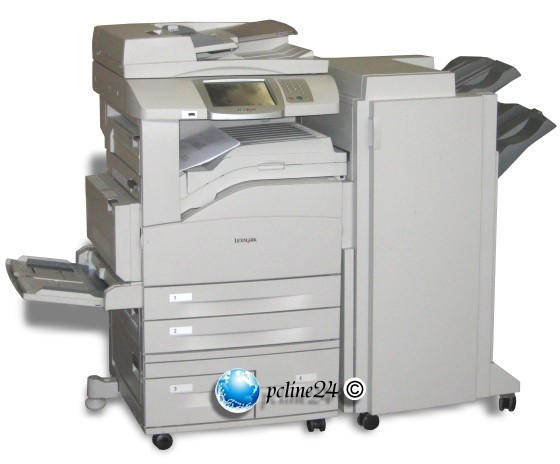 lexmark x854e all in one fax adf duplex finischer din a3 drucker kopierer 10019740. Black Bedroom Furniture Sets. Home Design Ideas