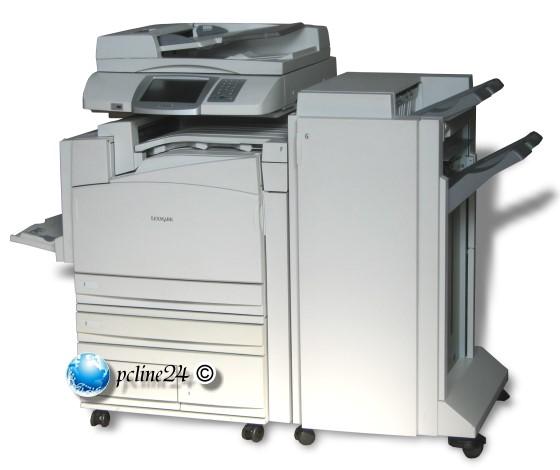 lexmark x945e din a3 farb drucker kopierer scanner fax mit finisher 346k seiten b ware all in. Black Bedroom Furniture Sets. Home Design Ideas