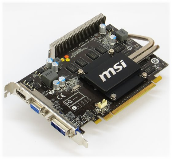 MSI GeForce GT 220 1GB PCIe x16 D-Sub DVI HDMI Grafikkarte passiv gekühlt