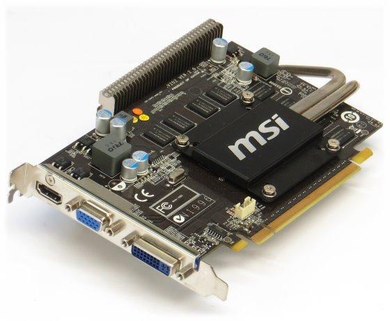 MSI GeForce GT220 1GB PCIe x16 N220GT-MD1GZ Grafikkarte Silent passiv