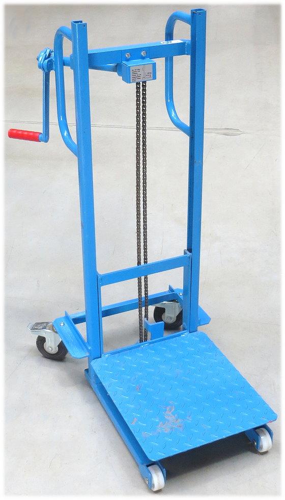 Materialheber Handwindenheber 80-900mm 100kg fahrbar Plattformlift Materiallift