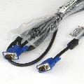 Monitor-Kabel VGA zu VGA D-Sub 15-pin 1,8m NEU