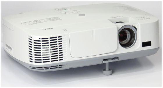 NEC M300W LCD Beamer 3000ANSI HD Ready HDMI LAN ohne Fernbedienung unter 500 Stunden