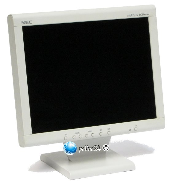 """15"""" TFT NEC MultiSync LCD 1550V 1024 x 768 VGA Monitor"""