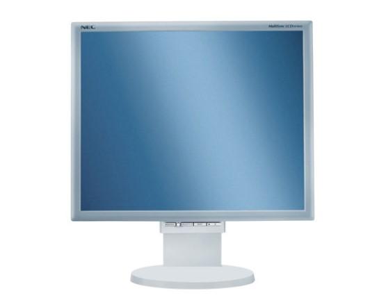 """19"""" TFT NEC MultiSync LCD 195NX 1000:1 5ms Pivot Lautsprecher VGA/DVI vergilbt"""