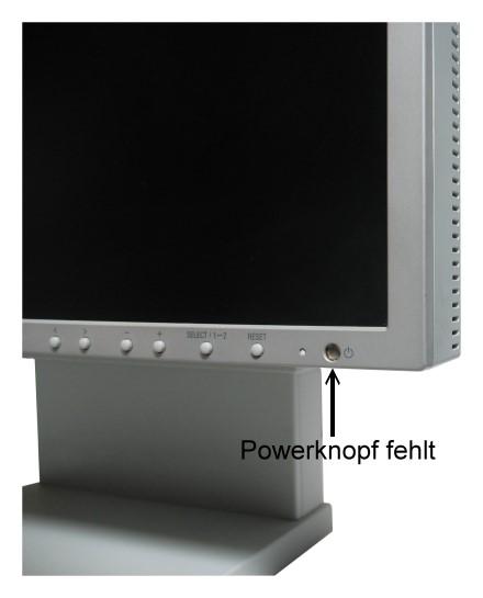 "18"" TFT NEC LCD 1880SX VGA DVI-I DVI-D PIVOT Ambix Panel: S-IPS ohne Powerknopf"