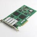 NetAPP Emulex QLE2464 Quad Port FC HBA PCIe x8 4x 4Gb SFP 111-00285