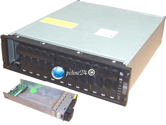 "19"" Rack NetApp DS14-MK2-AT Storage inkl. 14 HDD-Tray"