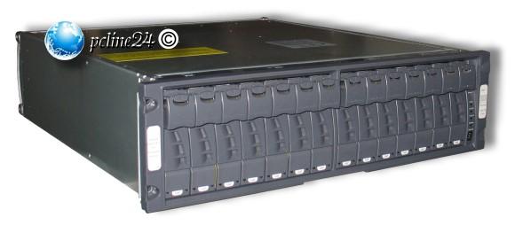 """19"""" Rack NetApp DS14-MK2-FC Disk Shelf 14x 146GB 2x P/N:106-02082 Module"""